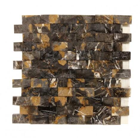 Michelangelo Marble Brick Pattern Split Face Mosaic Tile